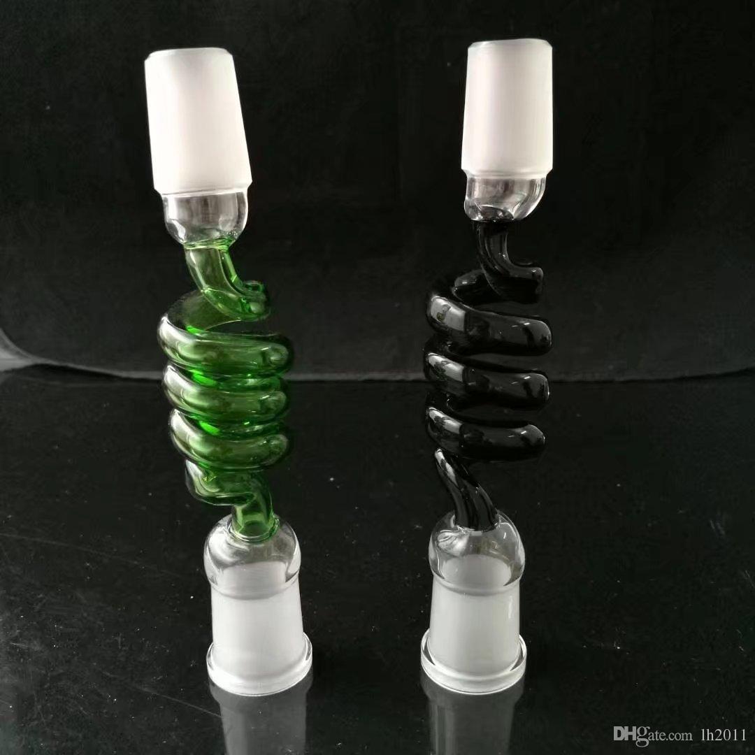 Adaptador de tornillo de color, accesorios de vidrio, pipas de vidrio, tubos de agua de vidrio de quemador de aceite, accesorios de tubos de humo