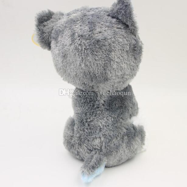 도매 - 18cm 뜨거운 판매 Beanie Boos 큰 눈 거친 개 봉제 인형 장난감 동물 인형 귀여운 봉제 장난감 아이 장난감