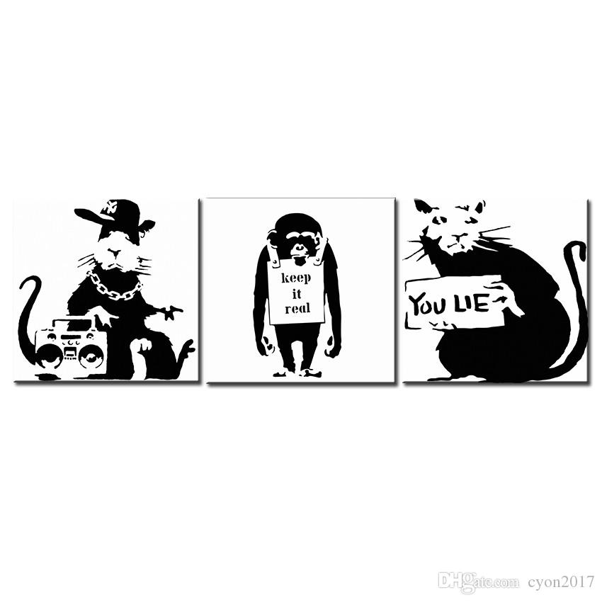 Large size Print Oil Painting Wall painting BANKSY ART SET Home Decorative Wall Art Picture For Living Room paintng No Frame