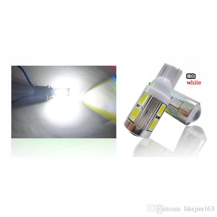 La voiture a mené les lumières 12v T10 10led 5630smd 194 168 W5W Côté de voiture Wedge Tail Light Lampe Plaque d'immatriculation Ampoule
