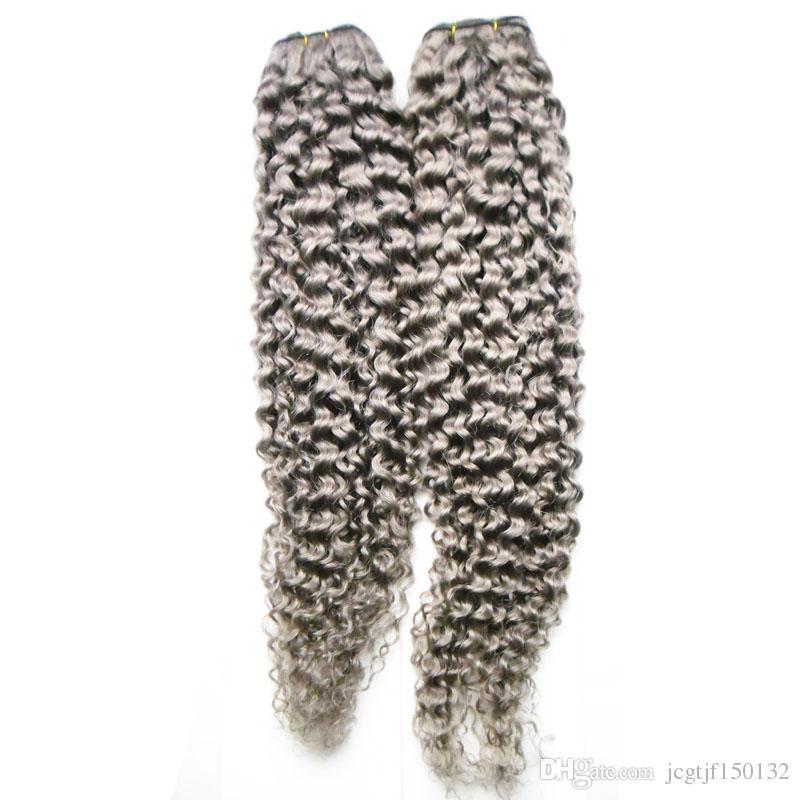 Afro crespi capelli estensioni dei capelli brasiliani tessere fasci 200g brasiliano crespi ricci capelli vergini 2 PZ