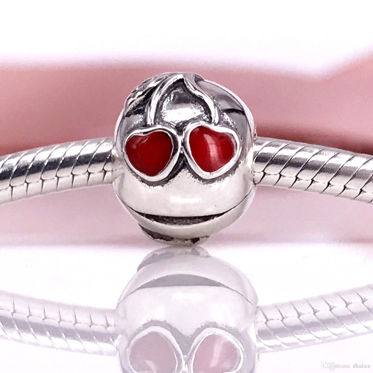 692aba754 European Style Jewelry 925 Sterling Silve Bead Cherries, Red Enamel  Clasp&Clips Charms Fit DIY Bracelet 791093EN39 European Style Jewelry 925  Sterling Silve ...