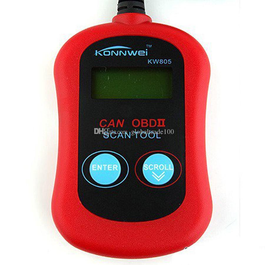 Outil de diagnostic de voiture KONNWEI Lecteur de défaut de scanner de code KONNWEI KW805 CAN OBD2 OBD II GESTION DU MOTEUR EOBD Livraison DHL gratuite