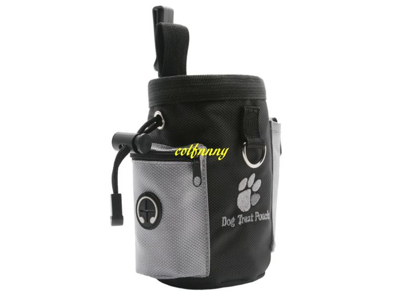 Fast shipping Dog Pet Puppy Obedience Agility Bait Training Food Treat Pouch Bag Dispenser Snack Reward Waist Bag