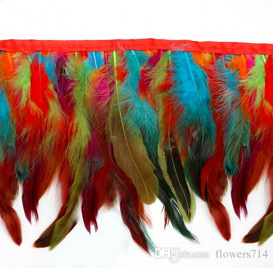 1Yard/Piece for Selections Rooster Tail Wedding Bride Dresses Decoration Skirt Feathers Party Decorative Boas Strip