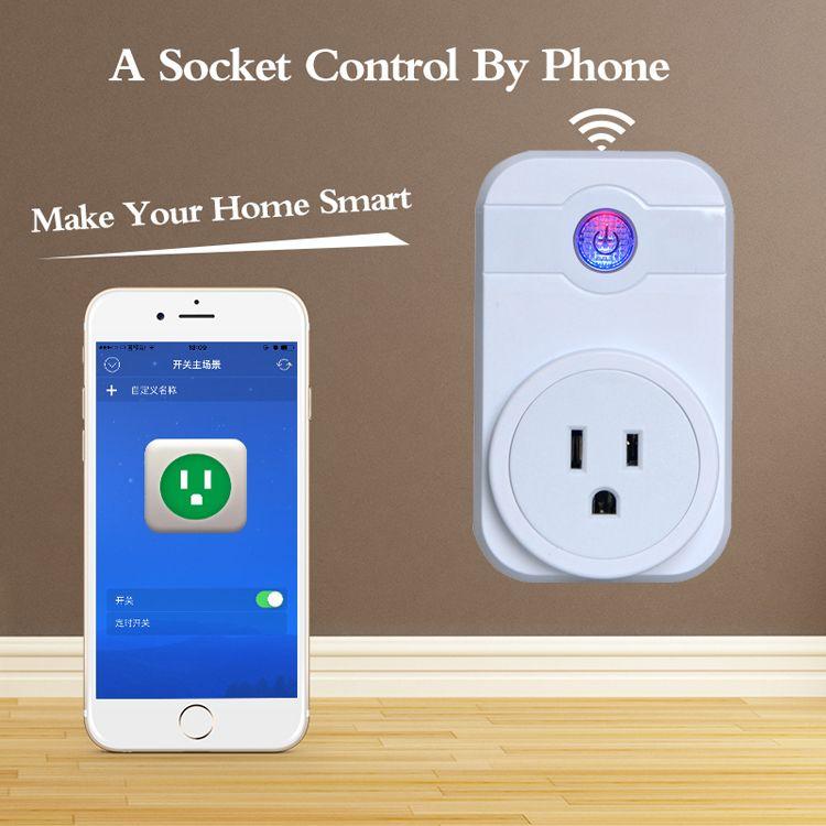 Smart Power Plug Portable Strip Adapter Mini Smart Wifi Socket ...