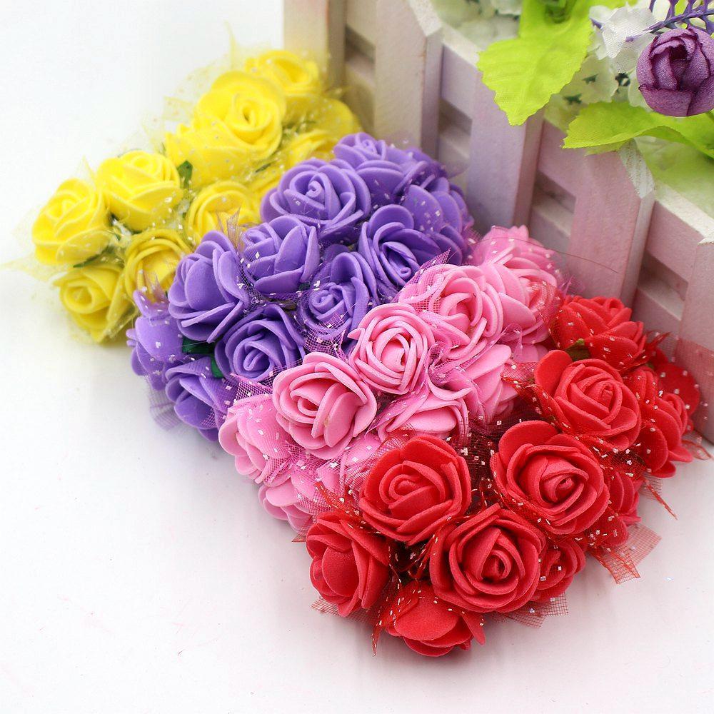 Online cheap wholesale mini foam hand bouquet of roses wreath of wholesale 12pcs mini foam hand bouquet ofg izmirmasajfo