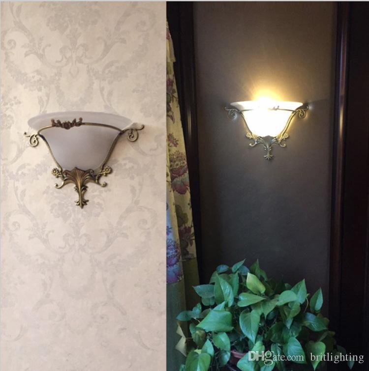 Moderne Jane Typ Kupfer Led Wandleuchte Korridor Gang Schlafzimmer Nachtwandleuchte Beleuchtung Amerikanischen Wohnzimmer Wandleuchte E27