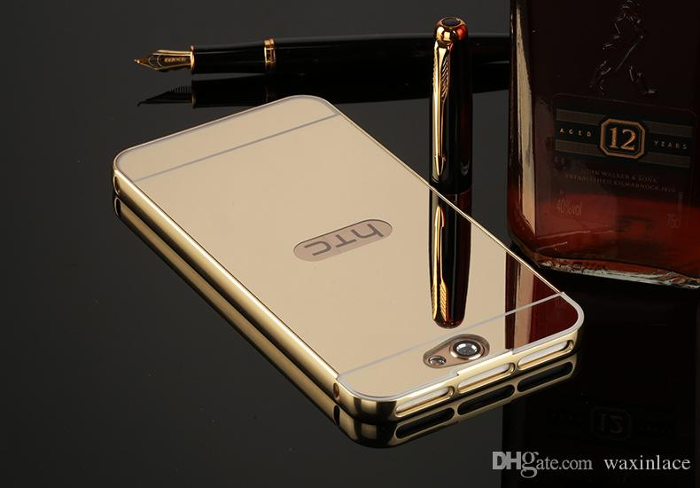 For HTC One A9 M8 M9 Case Cover Aluminum Phone Metal Frame Acrylic Back Cover For HTC 826 M10 Mirror Case Bumper Fundas