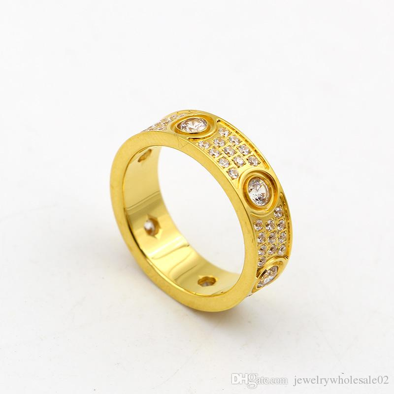 Voller Diamant-Mikro-Diamant-Ring mit Diamant-Ring von Sternen sind Liebhaber von hochwertigen Hand-Ring-Titan-Schmuck