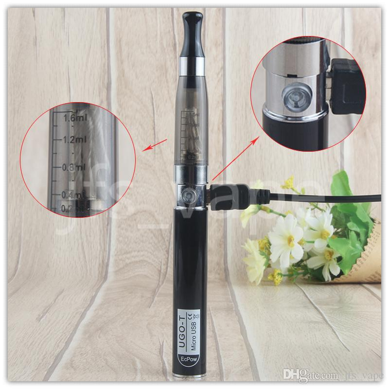 Ecigs eGo CE4 E Cig Mods UGO-T Blister Starter kits 650mah Battery And CE4 Atomizer Vaporizer Pen with Micro USB Passthrough ugo-t Battery