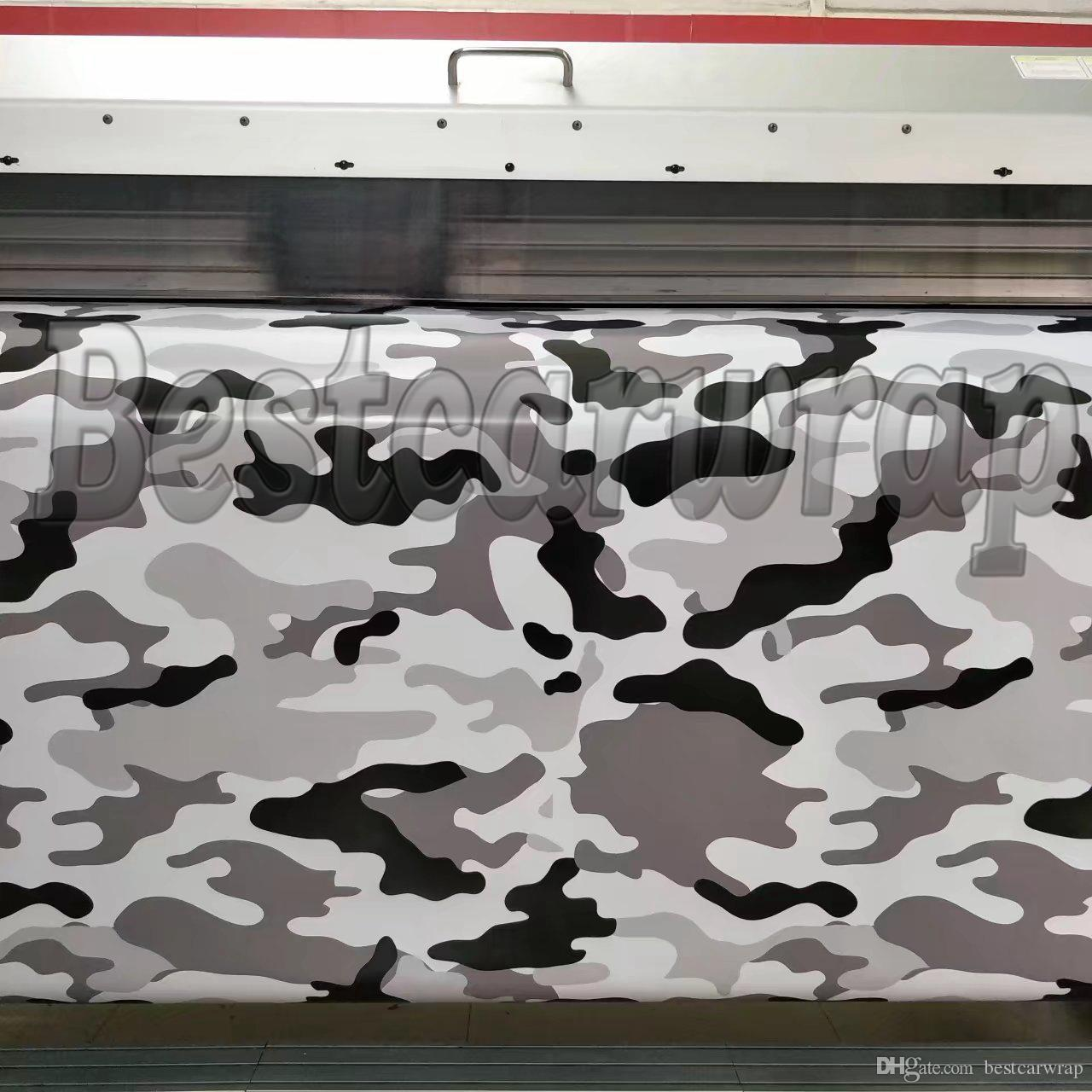 2019 gray black white snow camo vinyl full car wrapping camouflage covering for truck boat foil. Black Bedroom Furniture Sets. Home Design Ideas