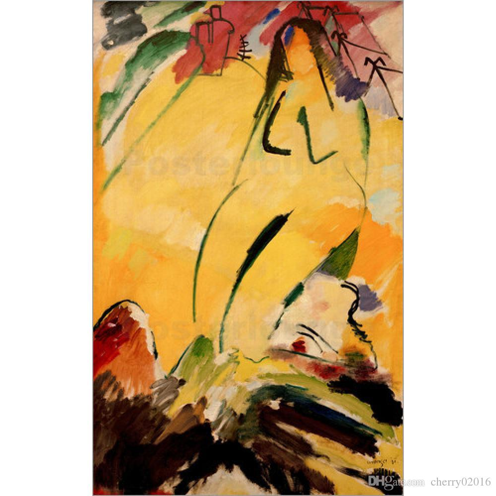 2018 Modern Abstract Art Wassily Kandinsky Oil Paintings Canvas Nude ...