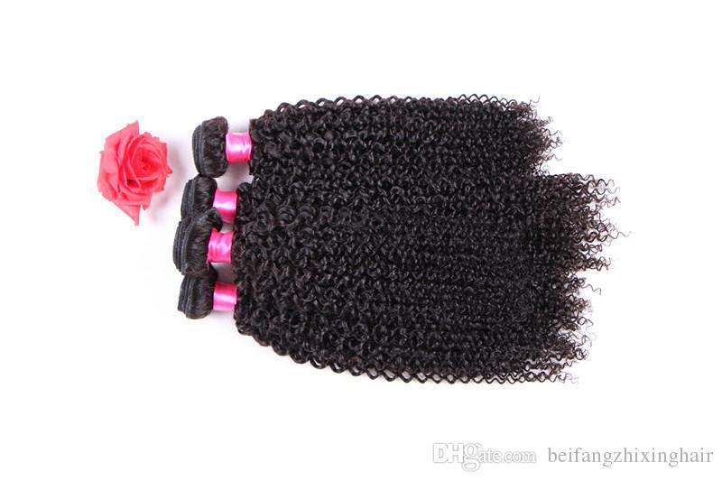 8a grade jerry curl remy Haarwebart 1b # natürliche farbe 100 gr / teile 3 STÜCK / Malaysische Reine Menschenhaarverlängerung Doppel schuss dhl geben Verschiffen