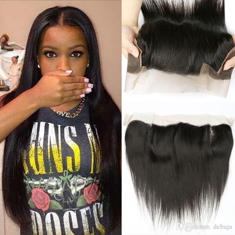 2018 13x4 Silky Straight Human Hair Weave Closure For Black Women