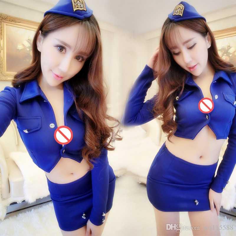 sexy lingerie sexy stewardess policewoman instructor nightclub skirt suit OL uniform wear costumes temptation of night games