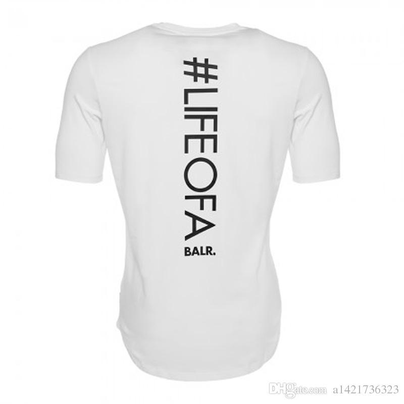 Homens balr T shirt Camiseta de Algodão de alta qualidade Homme Vestuário BALRED tshirt Tops Carta Impressão Camiseta de Fitness Tamanho Euro T-shirt