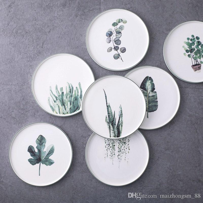 2018 Plant Painted Dinner Plate 2017 9*inch Bone China Cake Dishes Plate Porcelain Pastry Fruit Tray Ceramic Tableware For Steak From Maizhongsm_88 ... & 2018 Plant Painted Dinner Plate 2017 9*inch Bone China Cake Dishes ...