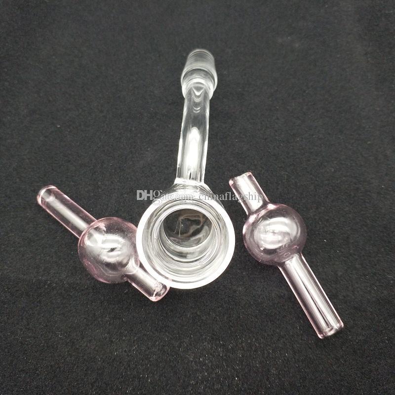 Set XXL Quarz Thermal Banger mit bunten Blase Carb Kappe Quarz Thermal Nails 10mm 14mm 18mm Männlich Weiblich für Glas Bong Ölbohrinsel