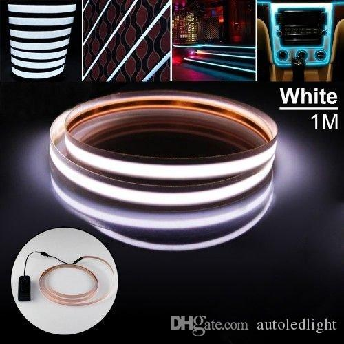 100cm Neon Glow Tape EL kaltes Licht RGB Steigbügel flexible Seil Batterie DC3V 5V USB 12V Car Kit blinkende Warnleuchten