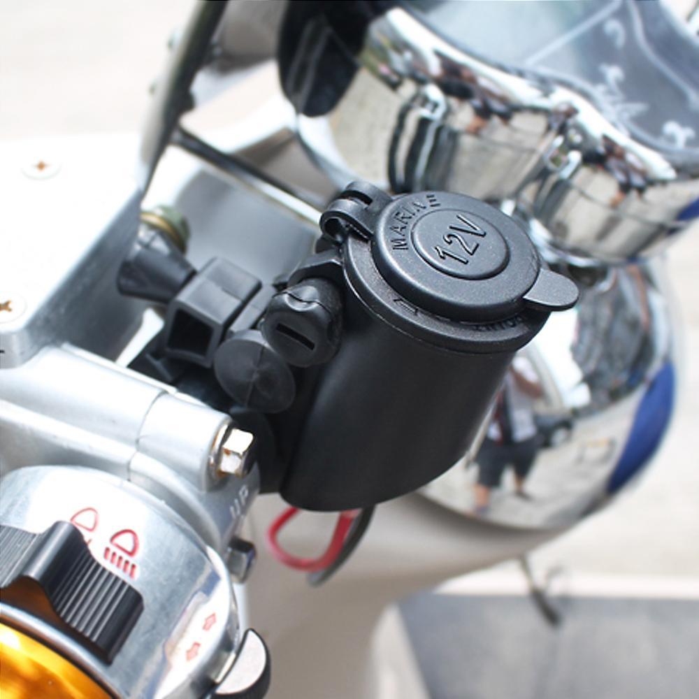 12V para 5V Waterproof Motorcycle Handlebar Isqueiro para cigarro Carregador USB Plug Socket Charger Adapter MOT_30W