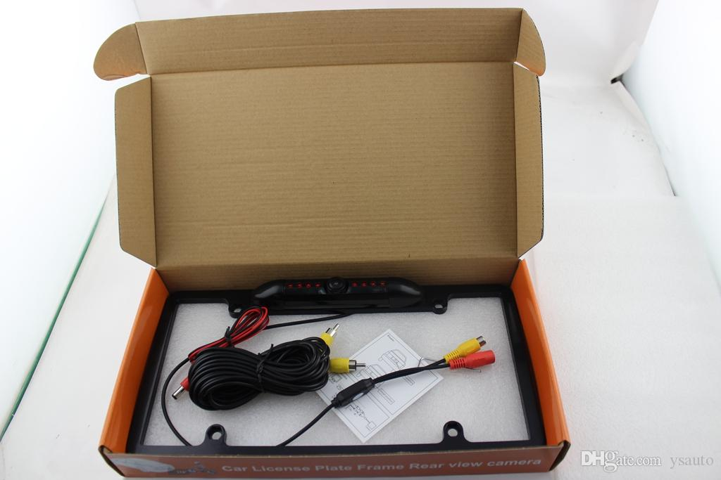 USA US Lisence Plate Car Camera For America IP67 Waterproof PZ422 Car Camera Reverse Camera DC 12V 1/4 CMOS Free DHL