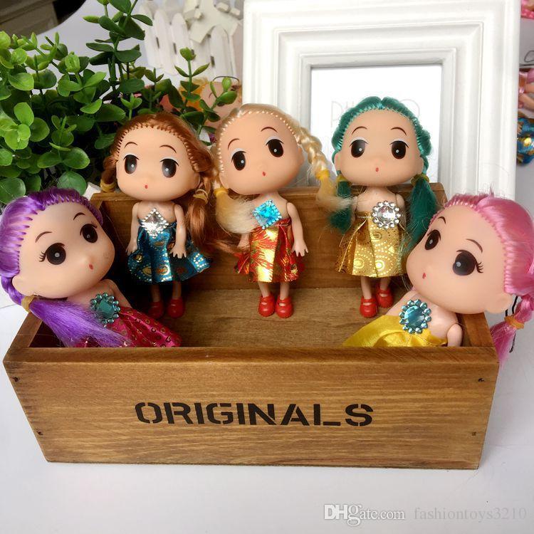 Hot selling Cute Mini Ddung ddgirl Dolls Phone Pendant Fashion Popular 12CM Gum Dolls Girl Toys good Christmas gift for girl Plush Toys