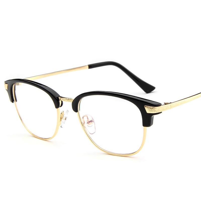93d0f221d9e Wholesale- Unisex 2017 Round Semi-Rim Eyeglasses Fashion Glasses ...