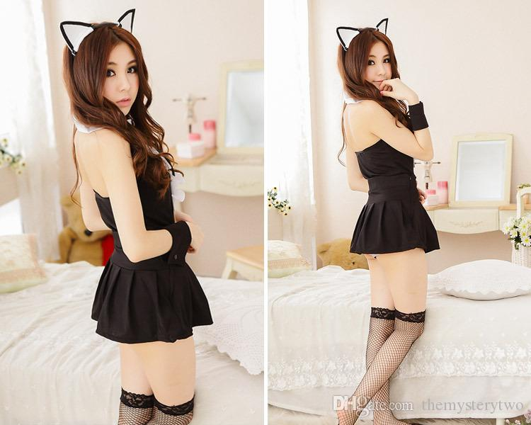 HOT lingerie sweet cat lady costumi sexy Baby doll lingerie sous vetement femme giocattoli sexy