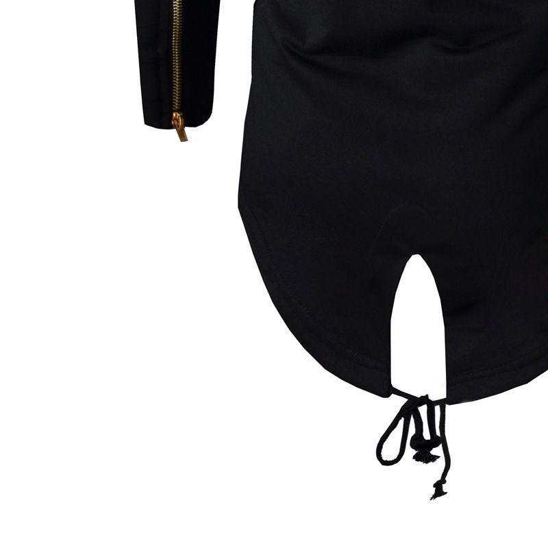 Moda Autunno Nero Bianco Mantello Felpa con cappuccio Felpa con cappuccio Uomo Streetwear Hip Hop Felpe con cappuccio lunghe Abbigliamento Uomo Capispalla Cardigan M-3XL