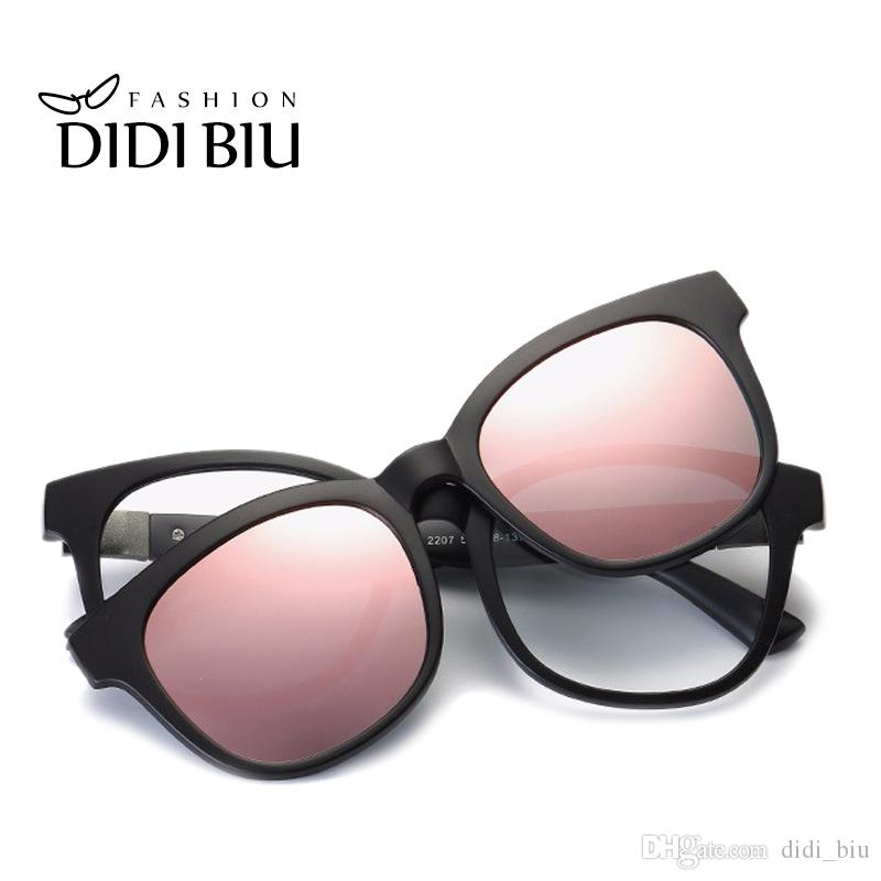 01069e2e029 DIDI Square Polarized Magnet Clip On Sunglasses Women Men TR90 ...