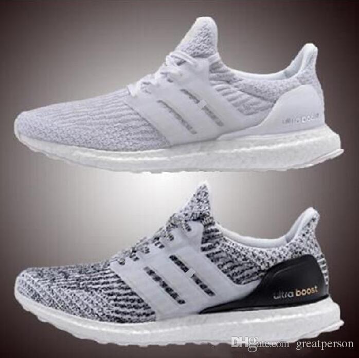 2017 Ultra boost 3.0 Triple Black Running Shoes Men Women Ultra Boost Hypebeast Primeknit Core Black White sport shoes size eur 36-45 discount shop offer uk5RNS7b