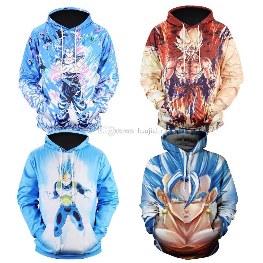 2019 Dragon Z Naruto Pullover Sportswear Ball Hoodies 3d Print MLSqVpGUz