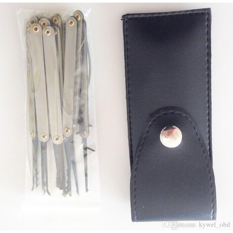 أدوات الأقفال قفل اختيارات goso 12 قطع هوك اللقطات التيتانيوم قفل اختيار مجموعات أدوات مكسورة مفتاح شحن مجاني