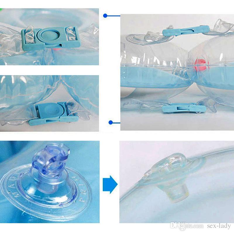 Nuovi accessori il nuoto neonati anello il collo dell'anello del tubo del bambino Anello di sicurezza il nuoto del collo infantile il bagno Gonfiabile Goccia più recente