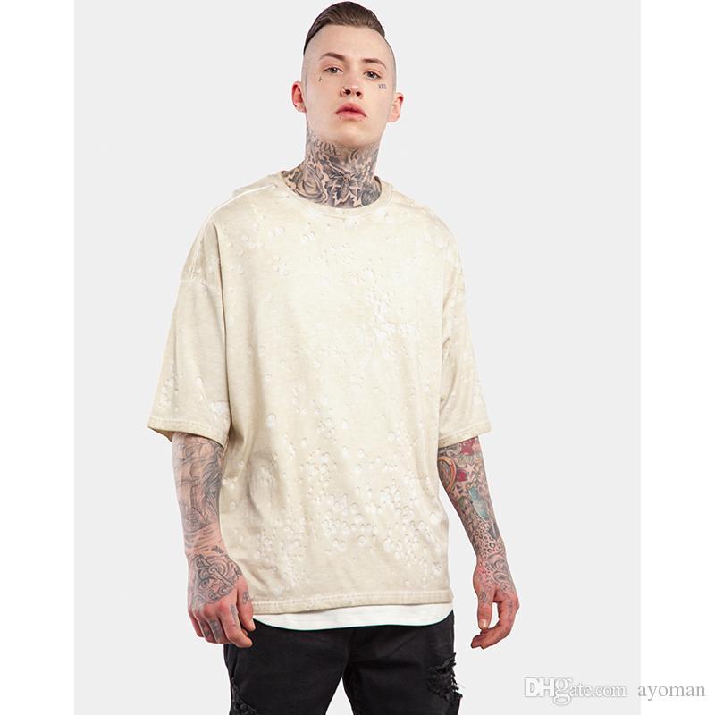 2017 Swag Polka Dot T Shirt Oversized Tie Dye Men Tshirt Kanye ...