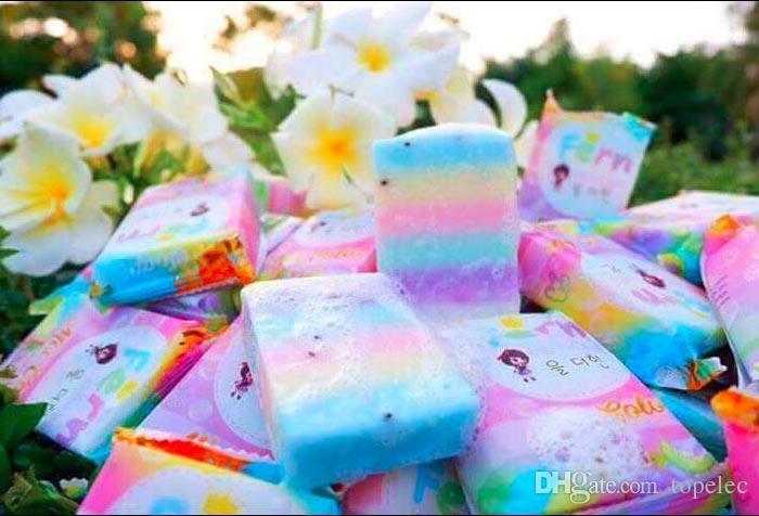Nuovi arrivi OMO bianco più sapone colore della miscela più cinque sbiancato pelle bianca 100% gluta arcobaleno sapone spedizione gratuita dhl 60301