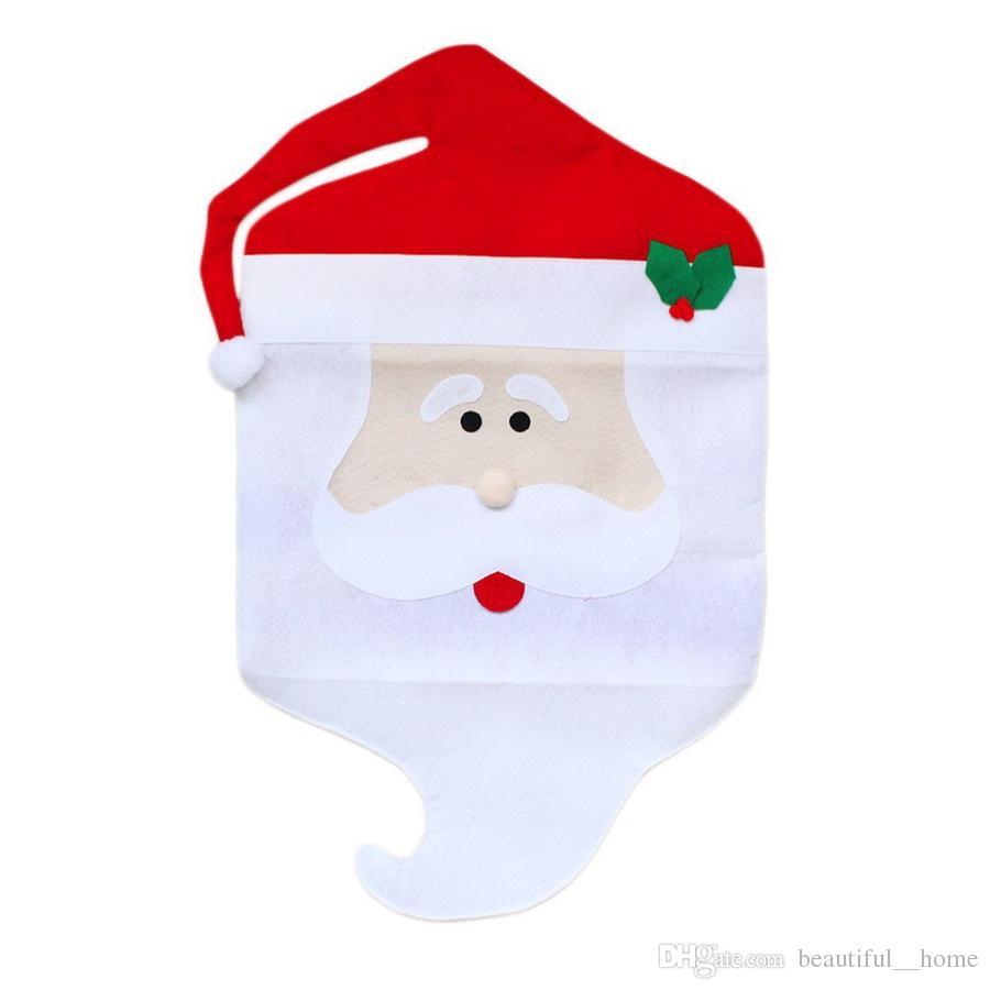 High quality 44cm*74cm 44*54cm Santa Claus Hat Chair Covers Christmas Decoration Kitchen Dining Table Decor Home Party Decoration Chair sets