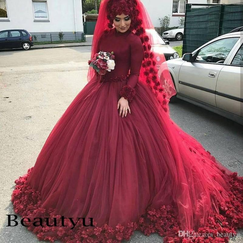 Hijab wedding dresses 2018 plus