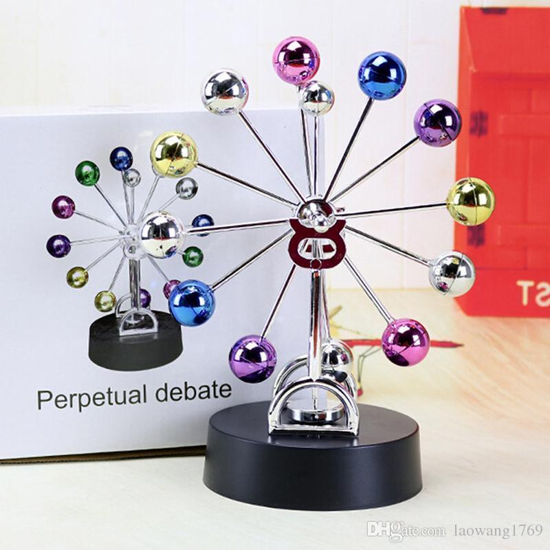 0402a46c9dd Compre Movimento Perpétuo Magnético Ferris Roda Elétrica DIY Spinning Bolas  Coloridas Crianças Kid Presente Brinquedos Para Casa Mesa De Escritório ...