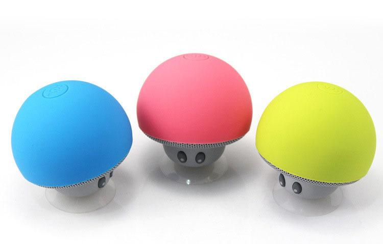 small mushroom head Wireless Bluetooth Speaker suction cup portable Waterproof stereo Sound Box for Phone or PC