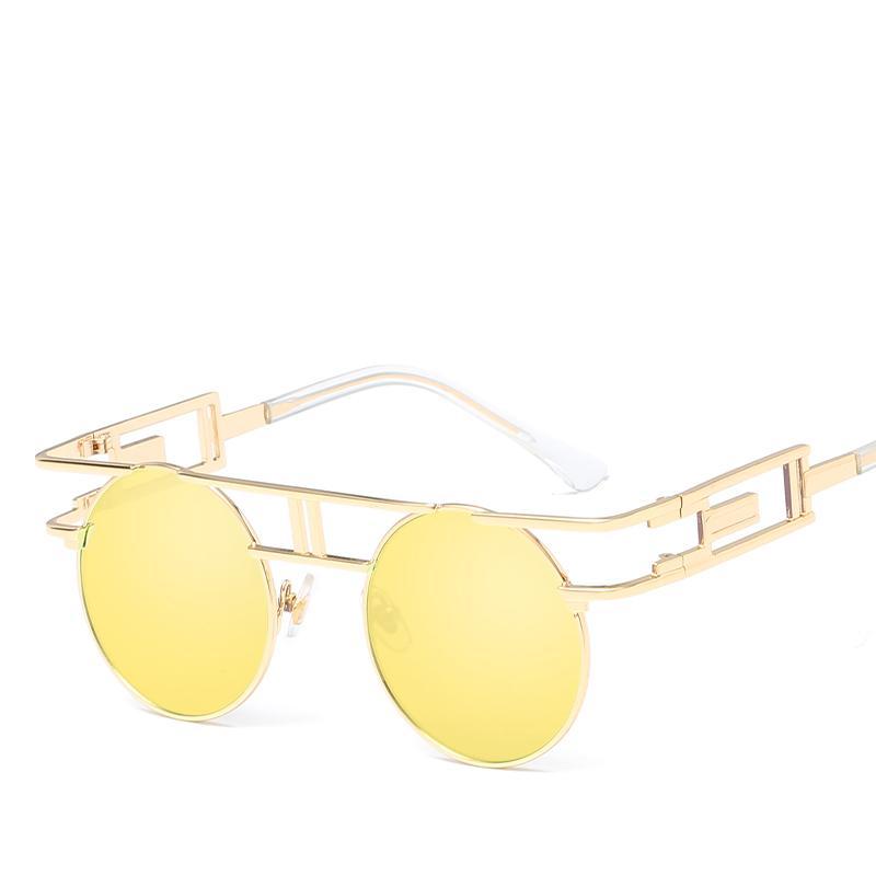 a60a2e29b9 New Gothic Steampunk Mens Sunglasses Vintage Metal Men Sunglasses ...