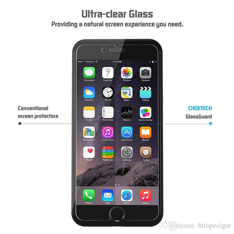 Para samsung s7 2.5d protetor de tela de vidro temperado 0.26mm à prova de explosão filme guarda com pacote de varejo para iphone 5 6 7 7 plus samsung lg
