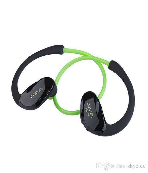 Fone De Ouvido Esportivo Dacom Atleta Estéreo Bluretooth V4.1 Headphone Mic Cabeça Orelhas Montadas Pendurar Tipo Sem Fio de Moda de Alta Qualidade Dispositivos de Música