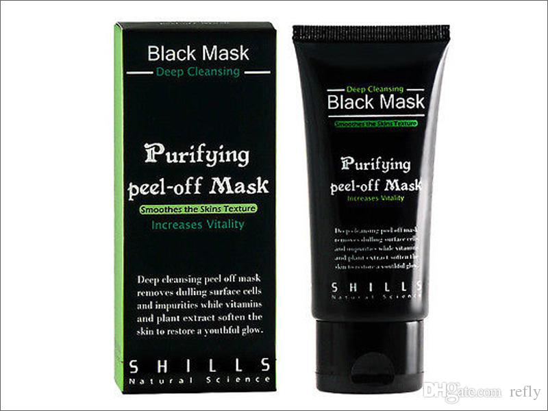 SHILLS глубокое очищение Черная Маска очиститель пор 50 мл очищающая шелушащаяся Маска угорь маска для лица бесплатная доставка DHL