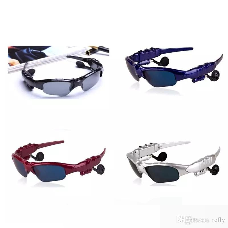 2017 BTglasses Sunglasses With Bluetooth Earphones Wireless Sports Headphone Sunglass Handsfree Earphones Free DHL