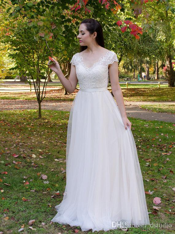 Discount Fairy Wedding Dresses Ivory Soft Tulle Lace Bridal Gowns