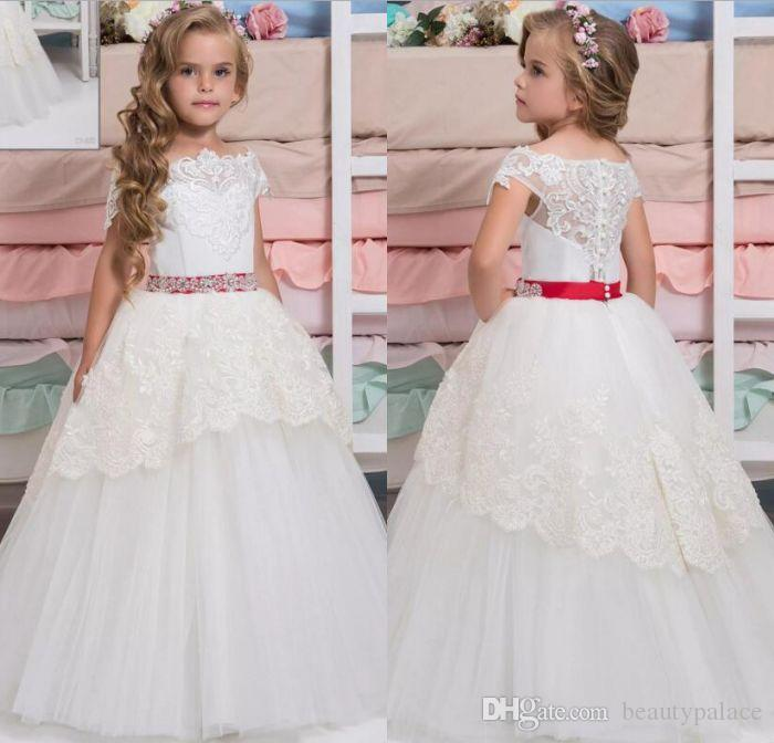 0a652bcfd51 Arabic 2017 Lace Flower Girl Dresses Cap Sleeves Vintage Child Dresses  Beautiful Flower Girl Wedding Dresses Girls Flower Girl Dresses Little Girls  Party ...
