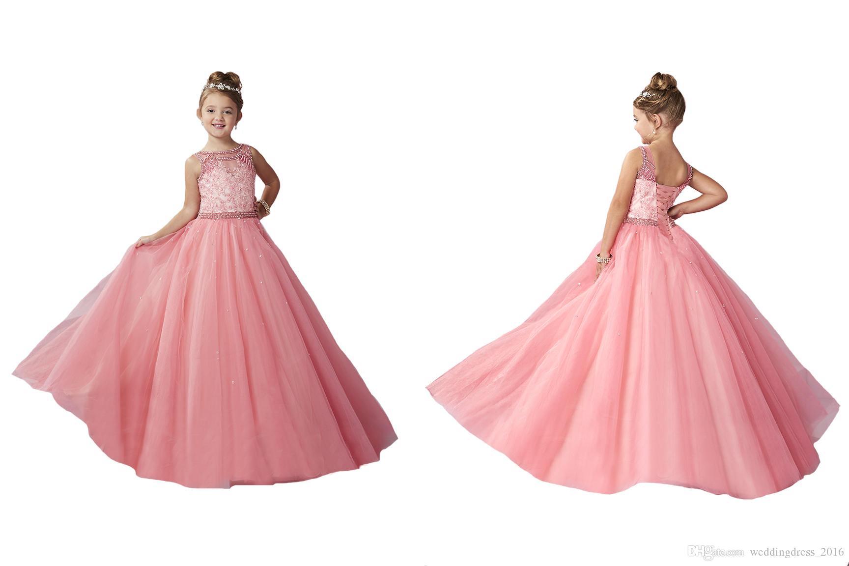 Compre Nuevos Niños Prom Christmas Sandía Rhinestones Princesa ...