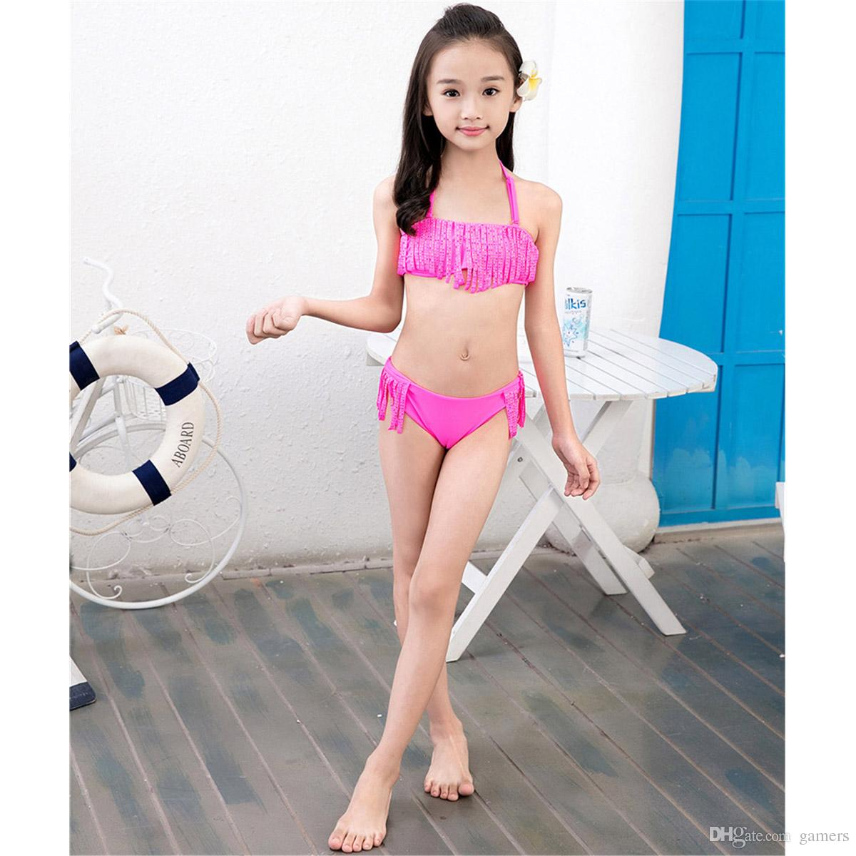2018 2017 Girl Sexy Swimmable Kids Lovely Summer Bikini